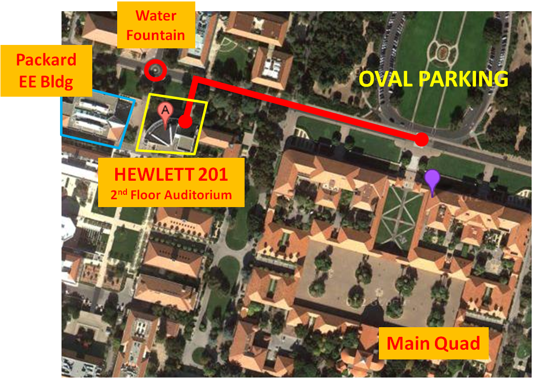 Map of Stanford Campus from Oval